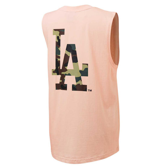 Majestic Womens LA Muscle Tank Pink XS, Pink, rebel_hi-res