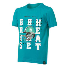 Brisbane Heat 2019 Kids Graphic Tee Teal 8, Teal, rebel_hi-res