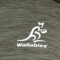 Wallabies 2020 Mens Training Tee, Grey, rebel_hi-res