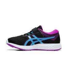 Asics Patriot 11 Kids Running Shoes Black / Purple US 11, Black / Purple, rebel_hi-res