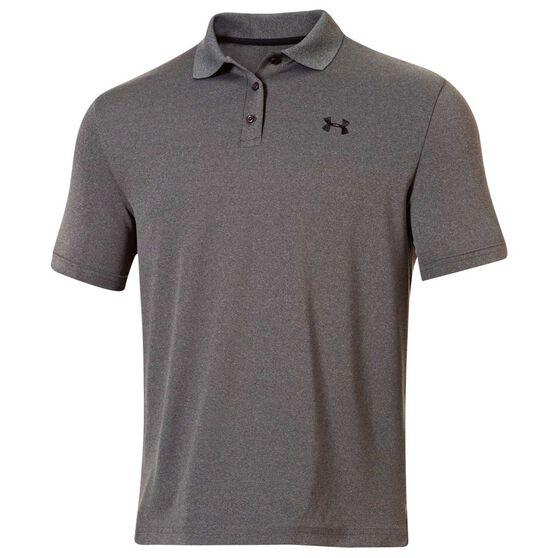 Under Armour Mens Performance Polo Shirt, Grey, rebel_hi-res