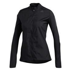adidas Womens Own the Run Jacket Black XS, Black, rebel_hi-res