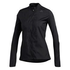 adidas Womens Own the Run Jacket Black XS, Black, rebel_hi-res