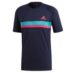 adidas Mens Colourblock Club Tee Navy S, Navy, rebel_hi-res