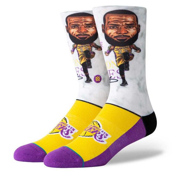 Stance Los Angeles Lakers LeBron Big Head Socks, , rebel_hi-res