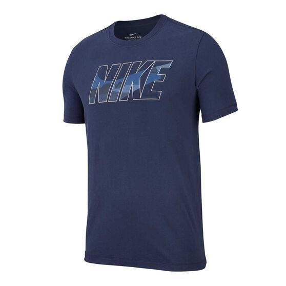 Nike Mens Dri-FIT Training Tee, Navy, rebel_hi-res