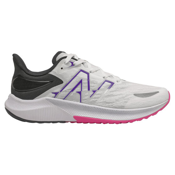 New Balance FuelCell Propel v3 Womens Running Shoes, White/Black, rebel_hi-res