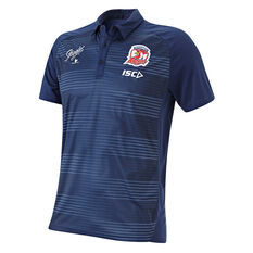Sydney Roosters 2019 Mens Performance Polo Blue S, Blue, rebel_hi-res