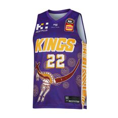 Sydney Kings 19/20 Mens Indigenous Jersey Purple S, Purple, rebel_hi-res