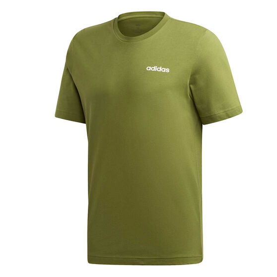 adidas Mens Essentials Plain Tee, Green, rebel_hi-res