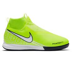 Nike Phantom Vision Academy Dynamic Fit Kids Indoor Soccer Shoes Green / White US 1, Green / White, rebel_hi-res