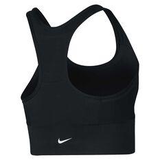 Nike Womens Swoosh Pocket Sports Bra Black  / White XS Adult, Black  / White, rebel_hi-res
