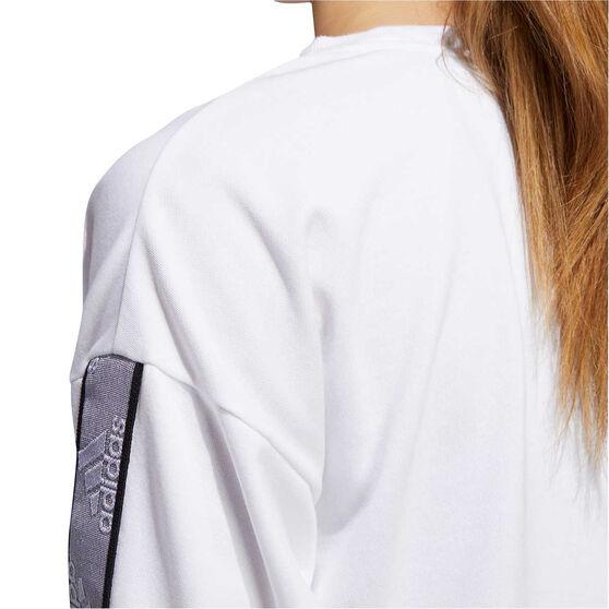 adidas Womens Changeover Sweatshirt, White, rebel_hi-res
