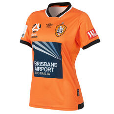Brisbane Roar 2018 / 19 W - League Womens Home Jersey Orange / Black 8, Orange / Black, rebel_hi-res