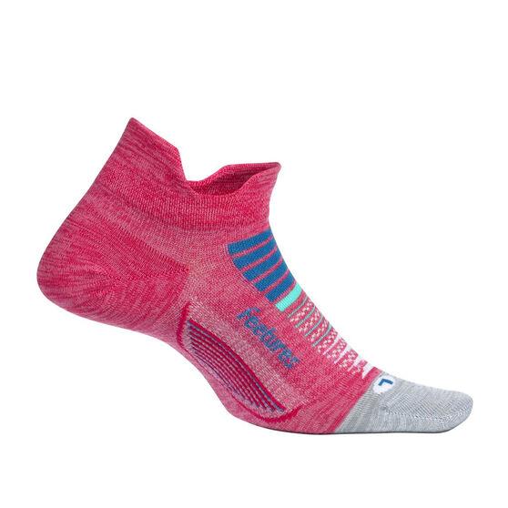 Feetures Elite Cushion No Show Tab Socks, Pink, rebel_hi-res