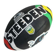 Steeden NRL Penrith Panthers Supporter Rugby League Ball, , rebel_hi-res