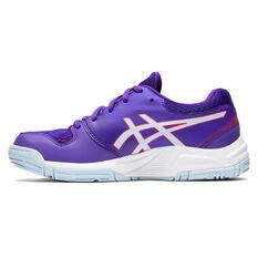 Asics GEL Netburner 20 Girls Netball Shoes Purple US 12, Purple, rebel_hi-res