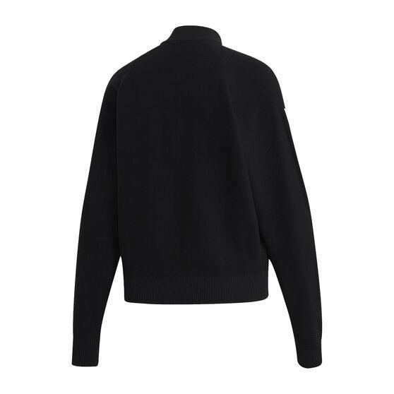 adidas Womens ID Knit Track Jacket, Black, rebel_hi-res