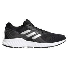 adidas Aerobounce Mens Running Shoes Black / White US 07, Black / White, rebel_hi-res
