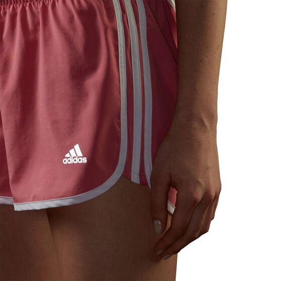 adidas Womens Marathon 20 Running Shorts, Pink, rebel_hi-res