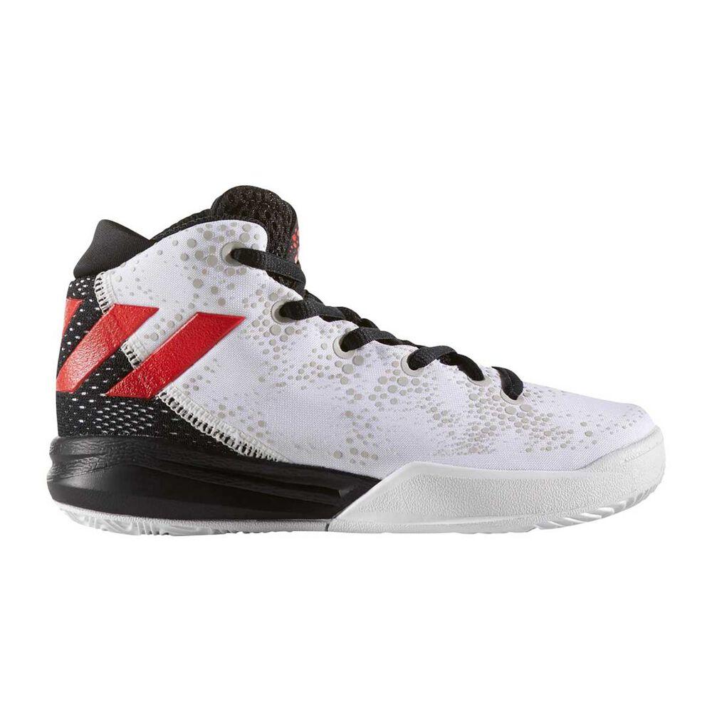 73f5a49e051e adidas Crazy Heat Boys Basketball Shoes White   Red US 11