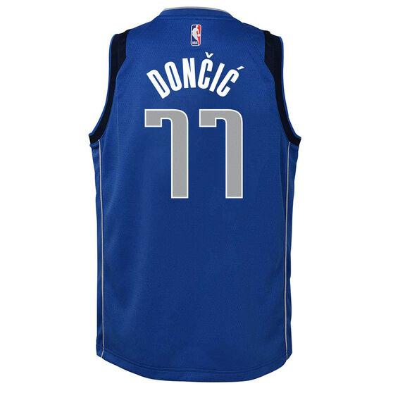 Nike Dallas Mavericks Luka Doncic 2020/21 Kids Icon Jersey, Blue, rebel_hi-res