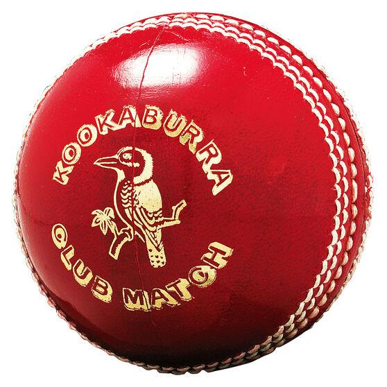 Kookaburra Club Match 156g Senior Cricket Ball Red, , rebel_hi-res
