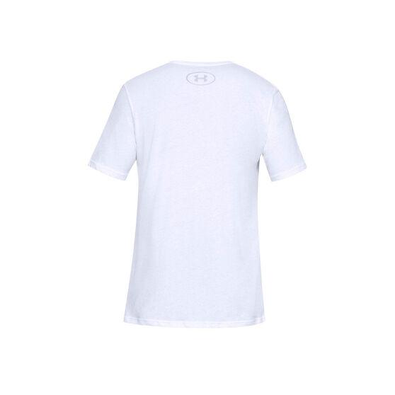 Under Armour Mens VT Sportstyle Logo Tee, White, rebel_hi-res