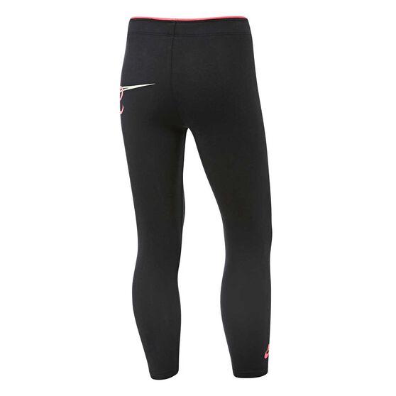 Nike Girls Sportswear Leggings, Black, rebel_hi-res