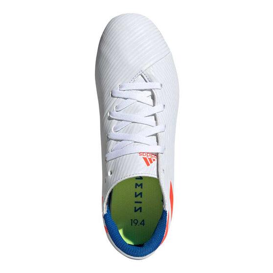 adidas Nemeziz Messi 19.4 Kids Football Boots, White / Red, rebel_hi-res