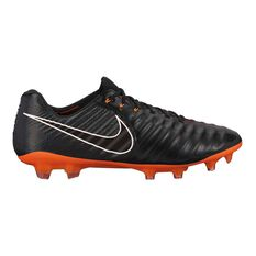 Nike Tiempo Legend VII Elite FG Mens Football Boots Black / Orange US 7 Adult, Black / Orange, rebel_hi-res