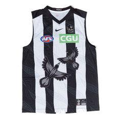 Collingwood Magpies 2021 Mens Indigenous Guernsey Black S, Black, rebel_hi-res