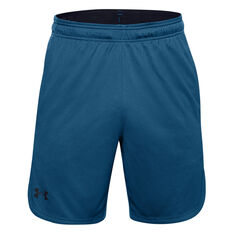 Under Armour Mens Performance Knit 9in Training Shorts Blue S, Blue, rebel_hi-res