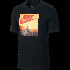 Nike Mens Sportswear Nike Air Photo Tee Black XS, Black, rebel_hi-res