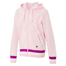 Ell & Voo Girls Harper Full Zip Fleece Hoodie Pink 4, Pink, rebel_hi-res