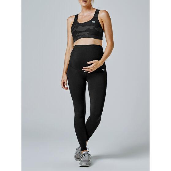 Running Bare Womens Tummy Tastic Maternity Tights, Black, rebel_hi-res