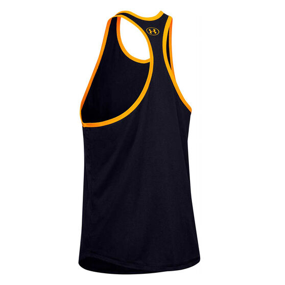 Under Armour Mens Project Rock Iron Paradise Tank, Black, rebel_hi-res