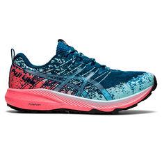 Asics Fuji Lite 2 Womens Trail Running Shoes Blue/Pink US 6, Blue/Pink, rebel_hi-res