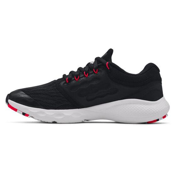 Under Armour Charged Vantage Kids Running Shoes, Black/Red, rebel_hi-res
