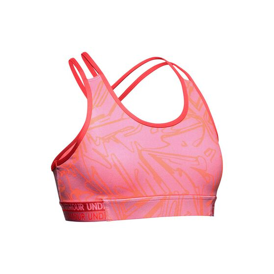 Under Armour Girls Heatgear Novelty Bra, Pink, rebel_hi-res