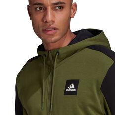 adidas Mens Full Zip Stadium Jacket Green S, Green, rebel_hi-res