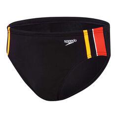 Speedo Mens Macca Swim Briefs Black 14, Black, rebel_hi-res