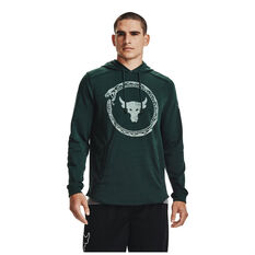 Under Armour Mens Project Rock Terry Snake Hoodie, Green, rebel_hi-res