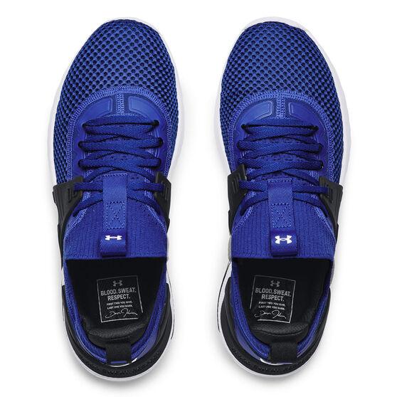 Under Armour Project Rock 4 Mens Training Shoes, Blue/Black, rebel_hi-res