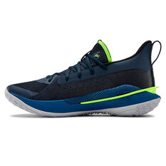 Under Armour Curry 7 Mens Basketball Shoes, Navy, rebel_hi-res