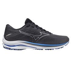 Mizuno Wave Rider 25 Mens Running Shoes Grey/Blue US 8, Grey/Blue, rebel_hi-res
