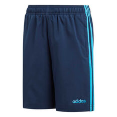 adidas Boys Essentials 3-Stripes Woven Shorts Navy / Blue 6, Navy / Blue, rebel_hi-res