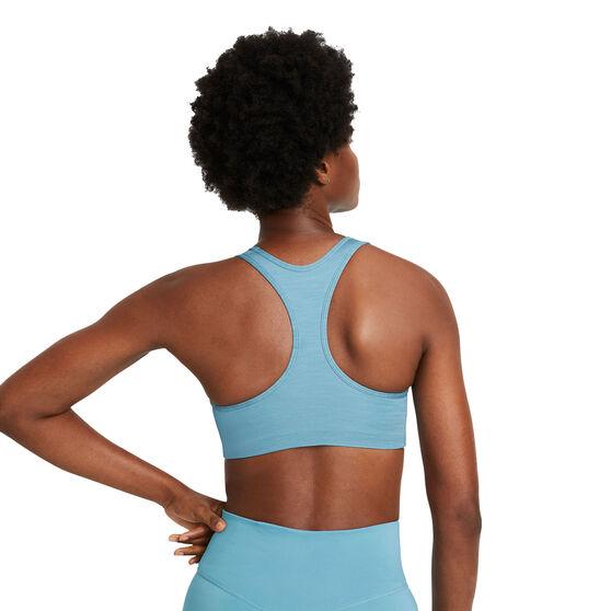Nike Womens Swoosh Medium Support Sports Bra, Blue, rebel_hi-res