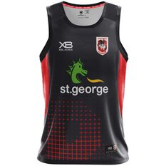 St. George Illawarra Dragons 2018 Mens Training Singlet, , rebel_hi-res