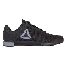 Reebok Speed Trainer Flexweave Mens Training Shoes Black / Grey US 7, Black / Grey, rebel_hi-res